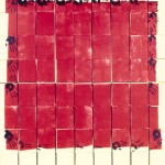 "Ideal Forms- Red, 2001--75"" x 66.5"""